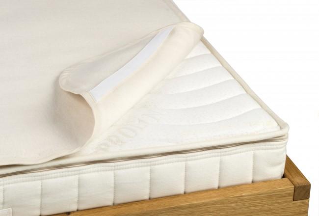 GOTS zertifiziert Kindermatratze Matratzenschutzauflage aus 100/% Bio-Baumwolle kbA 40 x 70 cm Natur