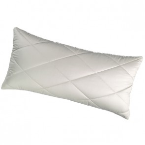 Camel down quilted pillow