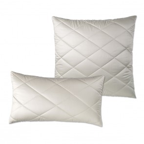 Quilted camel down pillow